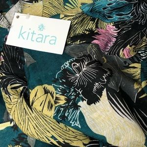Floral Chrysanthemum Scarf by Kitara